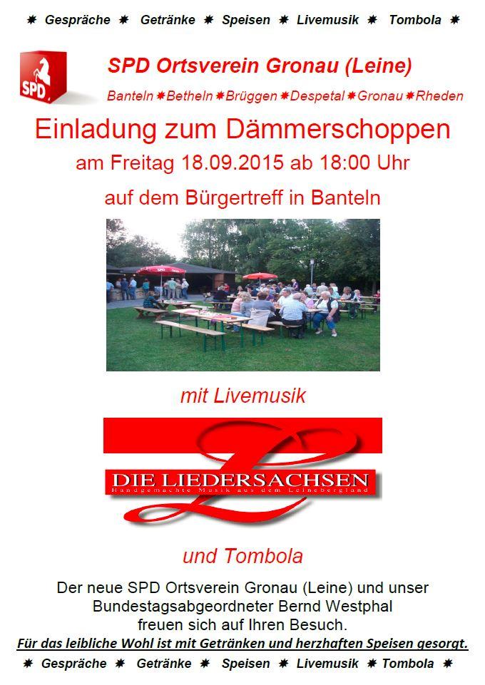 Plakat Dämmerschoppen 2015